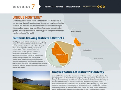 District 7 Website interface responsive web design ui design interface design responsive design wine graphic map