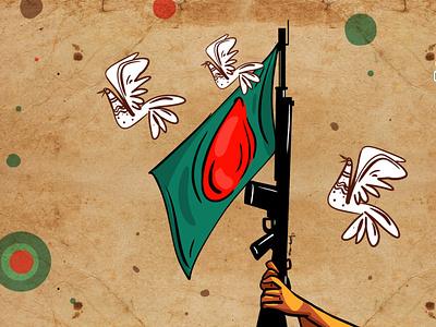 independence day of bangladesh II 26 march delowarripon design sketchart branding drawing cgwork delowarriponcreation illustration