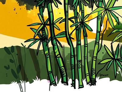 BambooTree Drawing branding vector design sketchart drawing delowarripon digitalart delowarriponcreation illustration cgwork