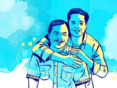 Father's Day Illustration by Delowar Ripon delowarripon graphic design logo ui branding drawing design digitalart illustration cgwork sketchart delowarriponcreation