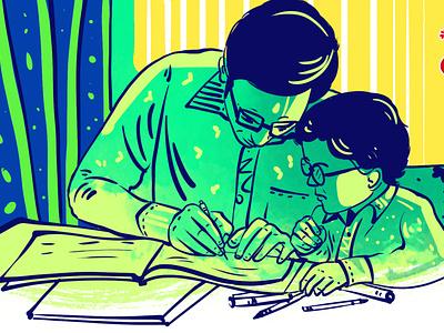 Father's Day Illustration by Delowar Ripon delowarripon branding cgwork design digitalart drawing illustration sketchart delowarriponcreation