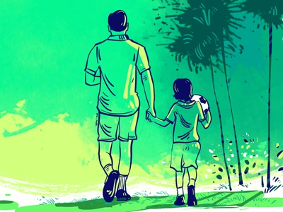 Father's Day Illustration by Delowar Ripon delowarripon design cgwork branding digitalart drawing illustration sketchart delowarriponcreation