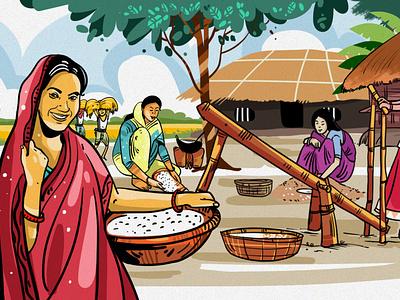 Boishakh Illustration by Delowar Ripon delowarripon design branding digitalart cgwork drawing illustration sketchart delowarriponcreation