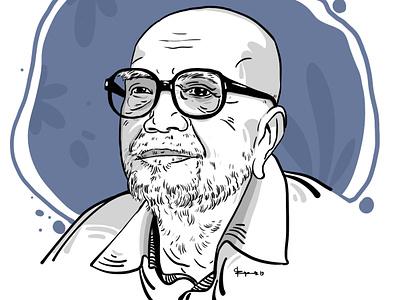 Al Mahmud Portrait 2019 digitalart portrait illustration cgwork drawing sketchart delowarriponcreation