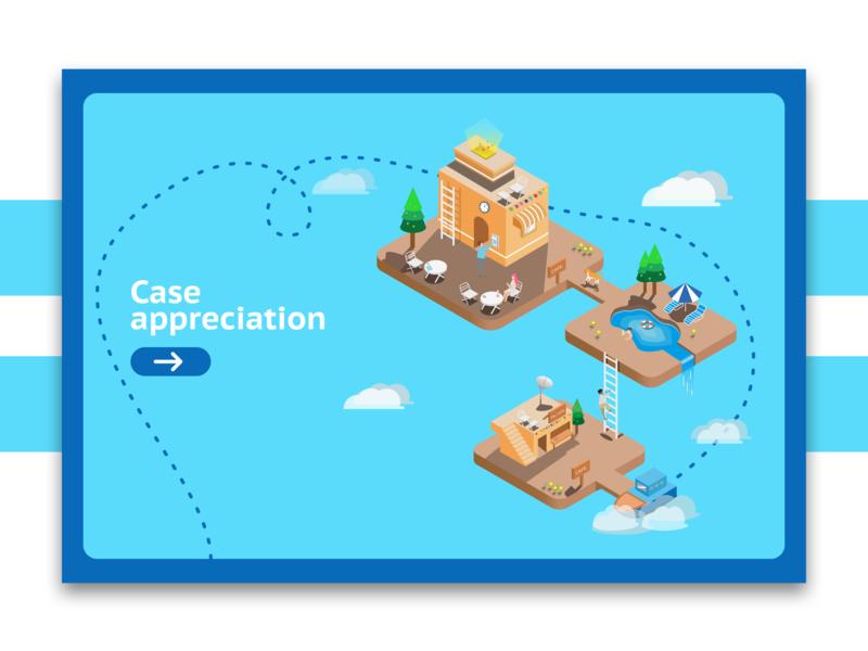 The sky land ui illustration design