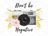 Watercolor Camera Clipart PNG Sublimation Graphic