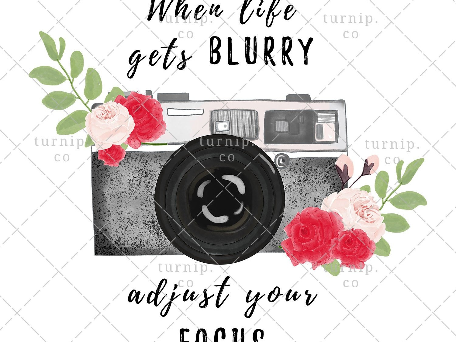 Watercolor Camera Focus Quote Png Clipart Sublimation