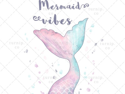 Mermaid Vibes Sublimation Clipart Graphic