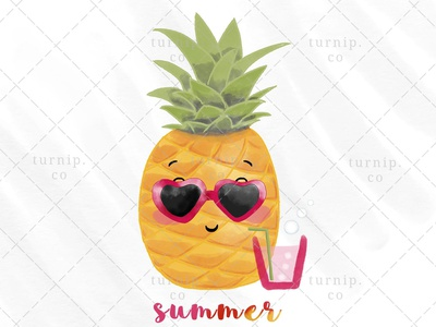 Summer Vibes Sublimation PNG Clip Art Designs quote clipart sublimation clipart summer clipart fruit clipart pineapple clipart cute branding illustration clipart design art turnip