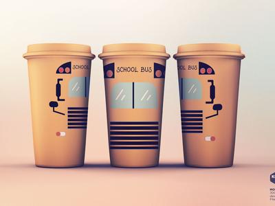 School Bus Sublimation Clipart Tumbler Graphic
