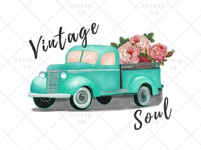 Vintage Soul Sublimation Clipart Graphic PNG