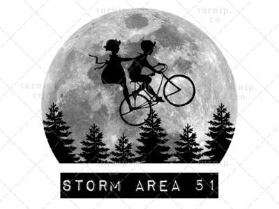 Storm Area 51 Sublimation Clipart Graphic Design