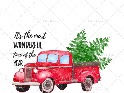 Christmas Truck With Tree Clipart PNG Sublimation Graphic X tree clipart vehicle clipart truck clipart quote clipart christmas clipart cute branding illustration clipart design art turnip