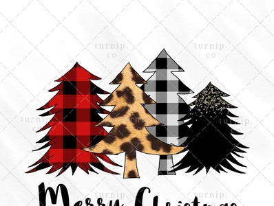 Christmas Tree PNG Sublimation Design Clipart Graphic X