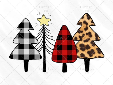Christmas Tree Sublimation Clipart PNG Graphic Design X