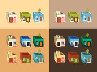Houses - Illustration Process