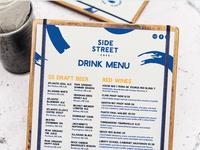 Side Street Cafe Menu