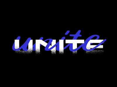 Unite unite social justice branding typography