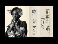 Goddess blooms collage art intuition power collage typography