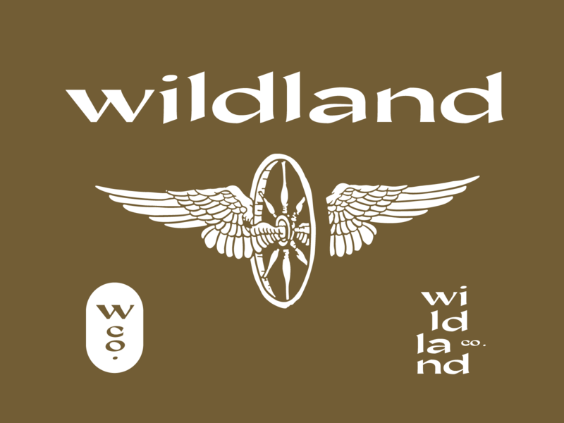 Wildland wilderness mark brand typography vintage wild