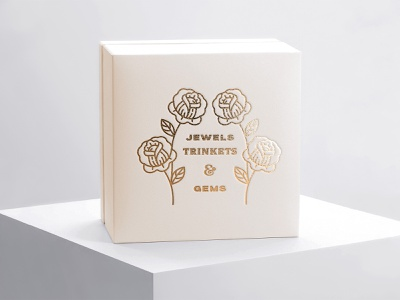 Sublime Jewelry Boxes flowers hands typography badges marks brand foil packaging jewelry