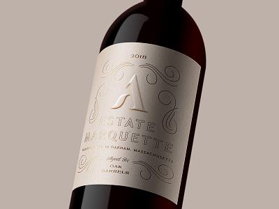 Agronomy Estate Marquette farm vineyard wine bottle print design branding brand foil blind deboss wine label winery wine