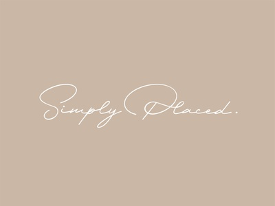 Simply Placed handwritten script typography branding and identity branding logo home decor