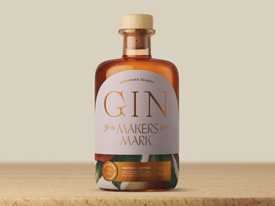 Designers Remedy Gin passionproject fun headaches freelance bydesigners fordesigners packaging design spirits packaging