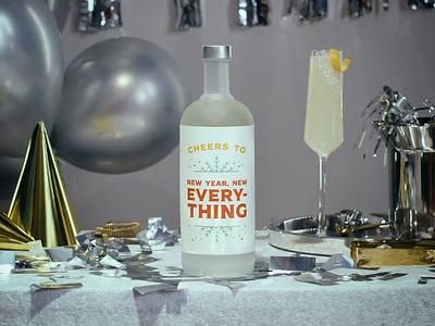 "Maine Spirits ""Cheers To"" Campaign 02 maine spirits maine liquor cheers typography new years bottle spirits campaign advertising"