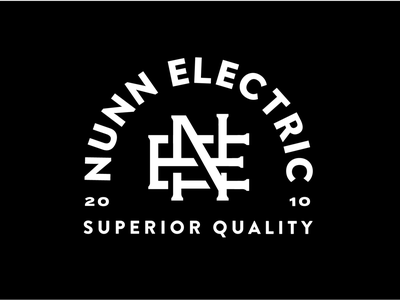 Nunn Monogram Lockup quality superior layout type monogram vintage typography electrician