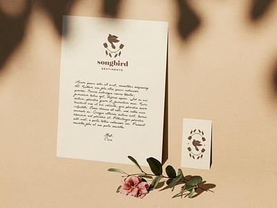 Songbird Sentiments services musical therapy music bird songbird emblem logodesign mark logo type branding design branding