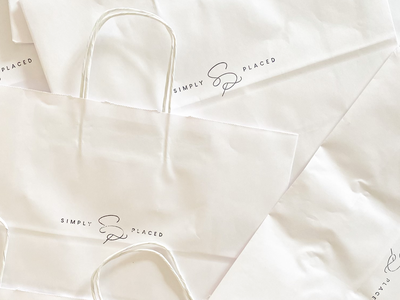 Simply Placed Bags monogram merchandise bags decor home placed simply design mark type logo brand branding typography