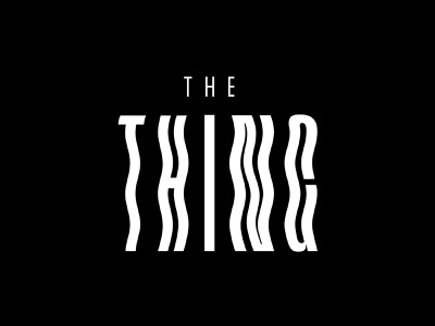 The Thing horror scary the thing type movies typography