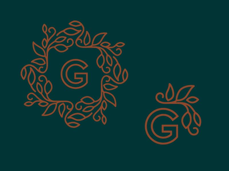 Landscaping Logo branding brand typography type letter illustration ornamental landscape logo