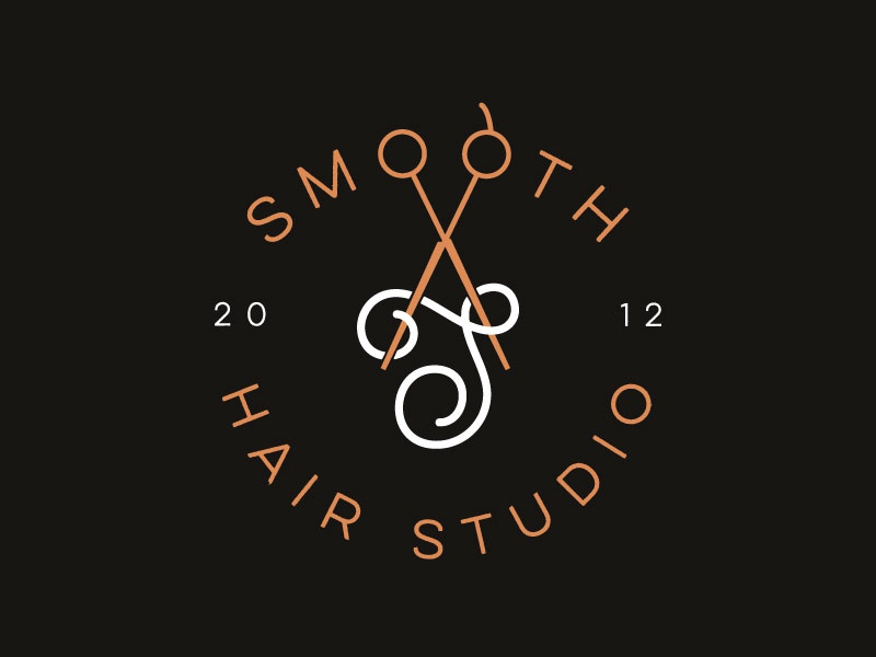 Smooth Hair Studio Final mark smooth s branding logo brand hair salon