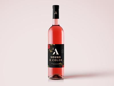 Agronomy Rose vineyard farm branding rose gold foil rose brand packaging wine winery