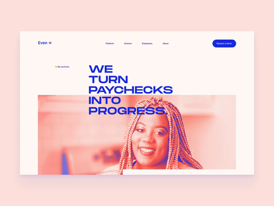 Even - Concept 001 brand marketing ux website builder design layout typography website design website finance app financial finance