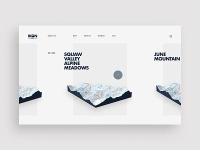 Ikon Maps - Initial Concept 001 ux layout typogaphy uiux ui design web design webgl animation website web interactive