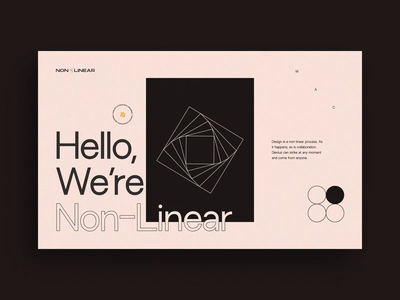 Non-Linear Website V2 - Hero / Case Study geometry layout typography animation interactive web deisgn website web ui ux design