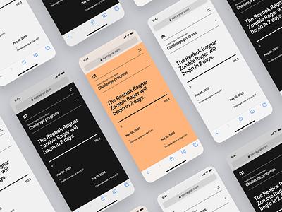 Ragnar Virtual Events ux ui minimal layout typography responsive website responsive mobile website web
