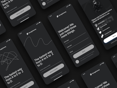Straightaway - Onboarding v1 onboarding design branding ux ui mobile app app mobile android ios