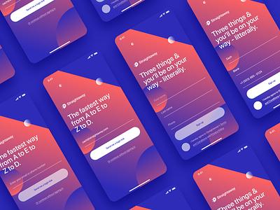 Straightaway - Onboarding v2 onboarding branding ui ux design app mobile app mobile android ios