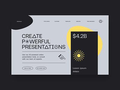 Slidebean Homepage - Reject 001 saas tech marketing branding website interactive web layout ux ui design