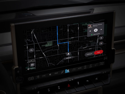 Maps Plus - Now Live in GM vehicles 🥳 truck car automotive auto app navi navigation turn-by-turn maps ux ui