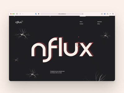 nFlux Homepage marketing branding artificial intelligence design layout typography ai technology tech animation webflow ux website web