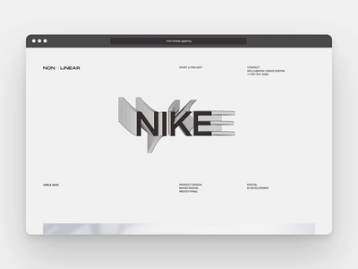 Still working on the Non-Linear Website...😅 website web ux ui layout typography animation design