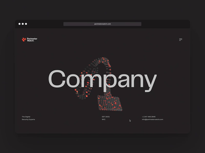 PerimeterWatch - Company Page cybersecurity tech typography website web design ux 3d animation ui