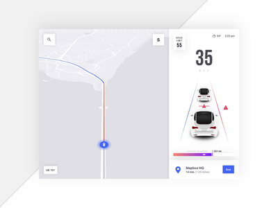 Mapbox Turn by Turn Navigation 🚙 - Smart Reroute app ios design animation ui maps map ui mapping turn by turn navigation directions auto automotive car driving car app