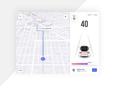 Mapbox Turn by Turn Navigation 🚙 - Complex Maneuver mapping map ui maps turn by turn directions car app automotive car auto ui design animation ios app