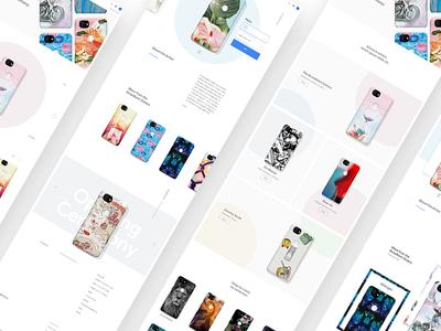 Google LiveCase - Concepts web website ux ui design store shopping ecom e-com ecommerce e-commerce